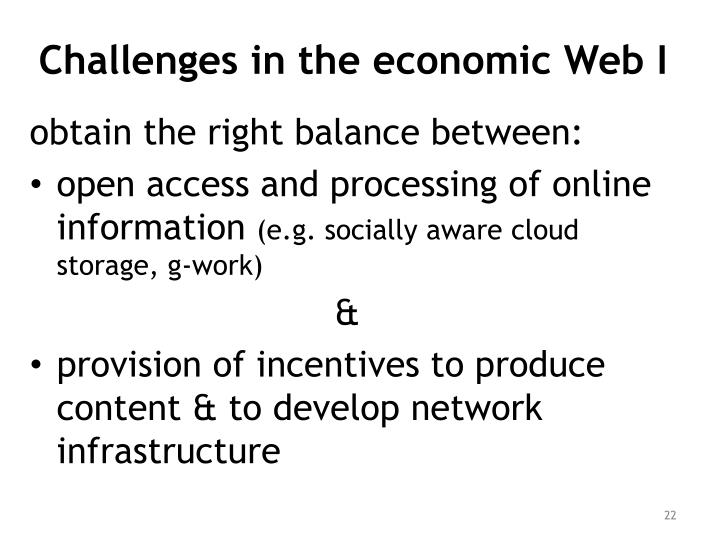Challenges in the