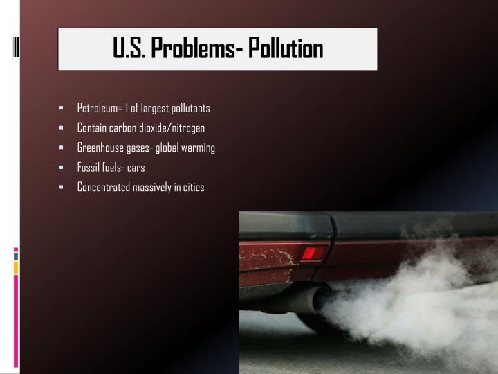 U.S. Problems- Pollution