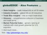 globaledge also features