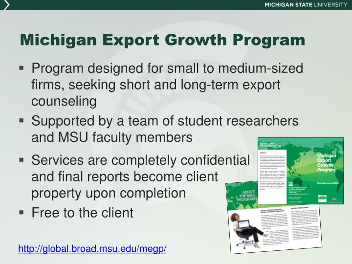 Michigan Export Growth Program