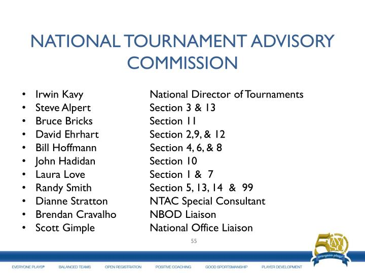 NATIONAL TOURNAMENT ADVISORY COMMISSION