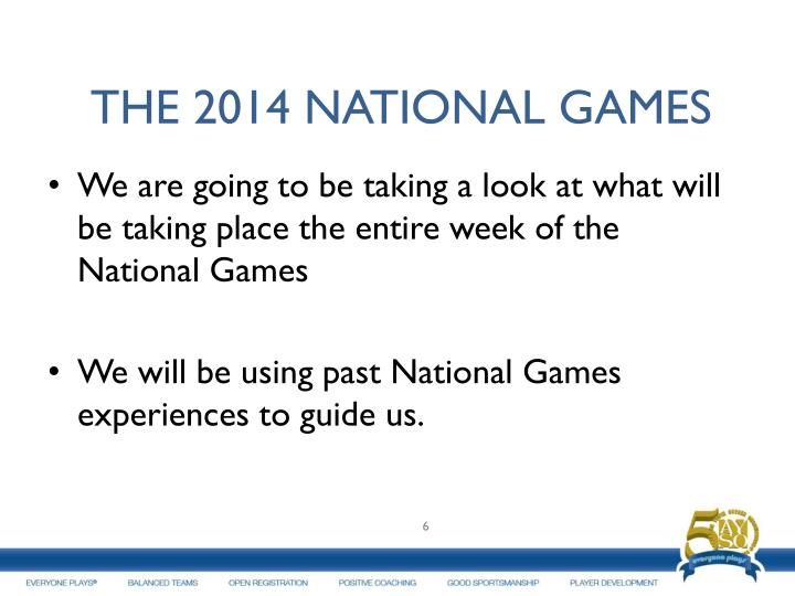 THE 2014 NATIONAL GAMES