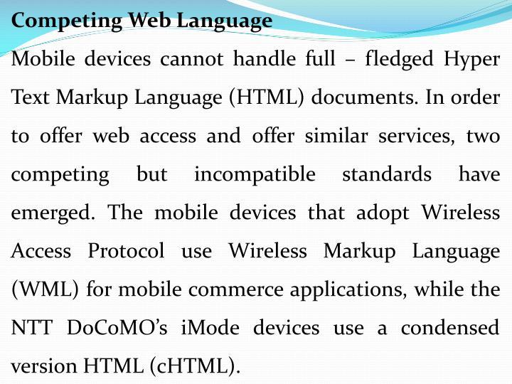 Competing Web Language