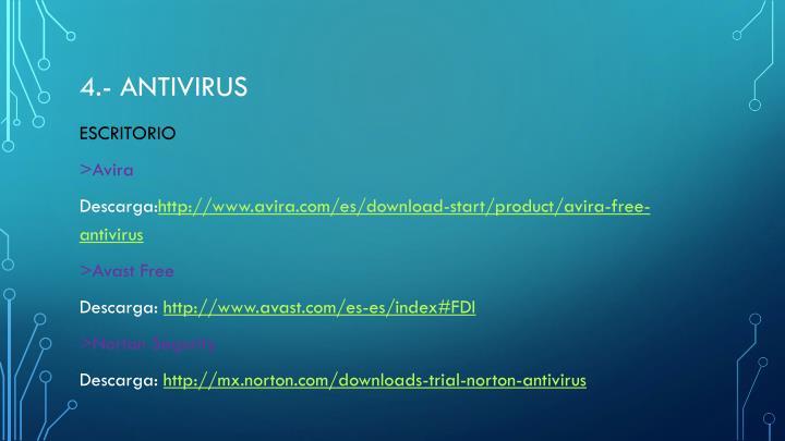 4.- antivirus