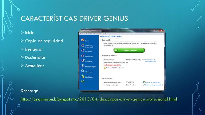Características Driver