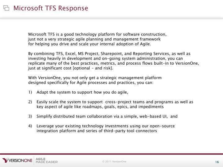 Microsoft TFS Response