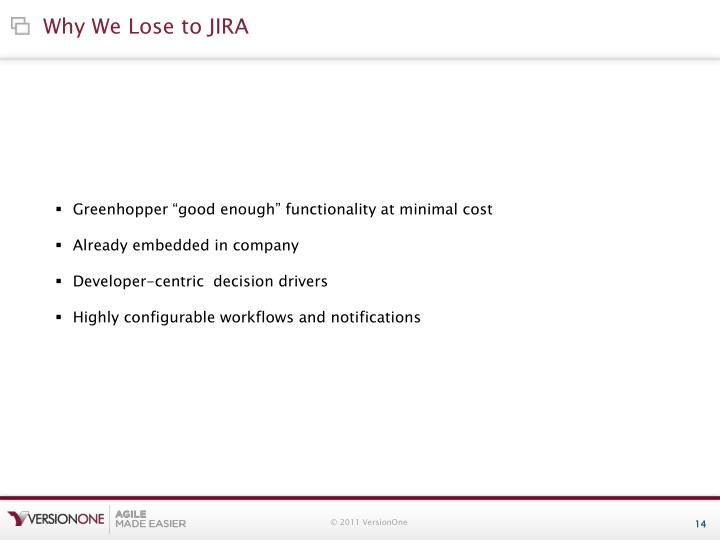 Why We Lose to JIRA