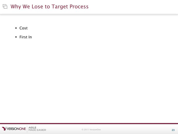 Why We Lose to Target Process