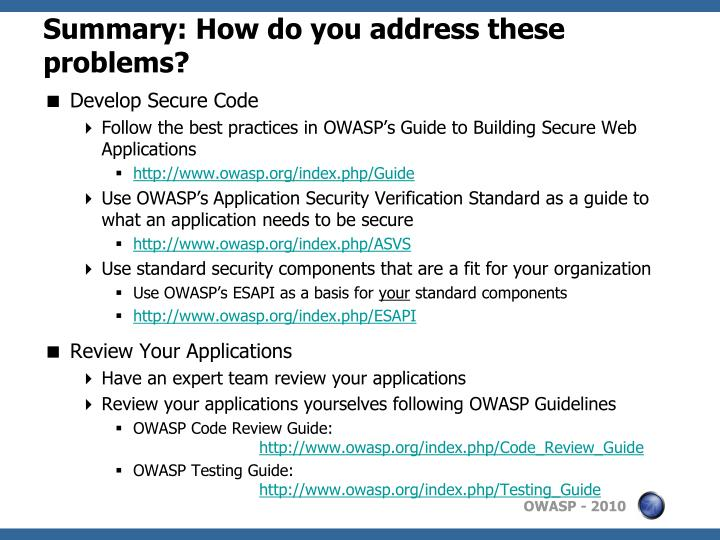 owasp top 10 testing guide