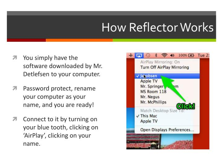 How reflector works