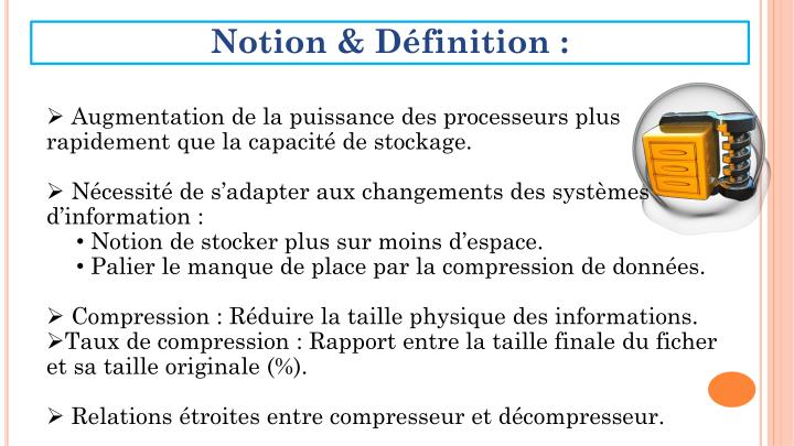 Notion & Définition :