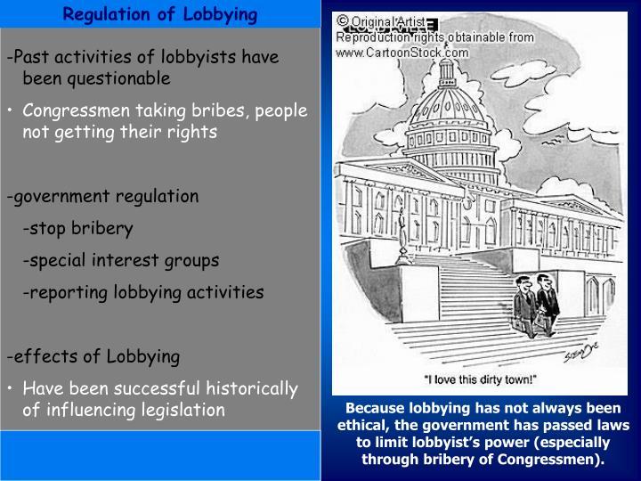 Regulation of Lobbying