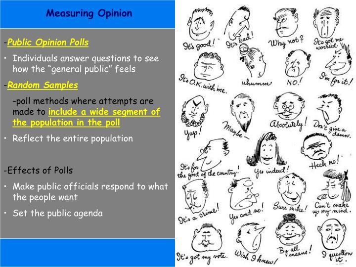 Measuring Opinion