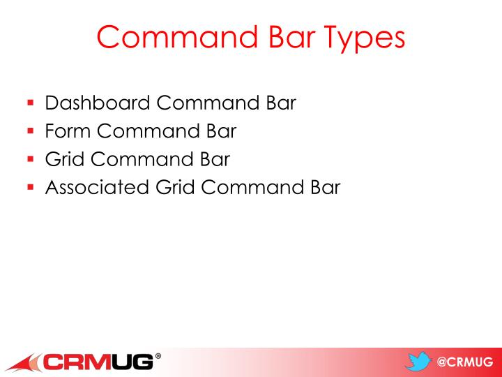 Command Bar Types