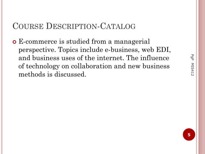 Course Description-Catalog