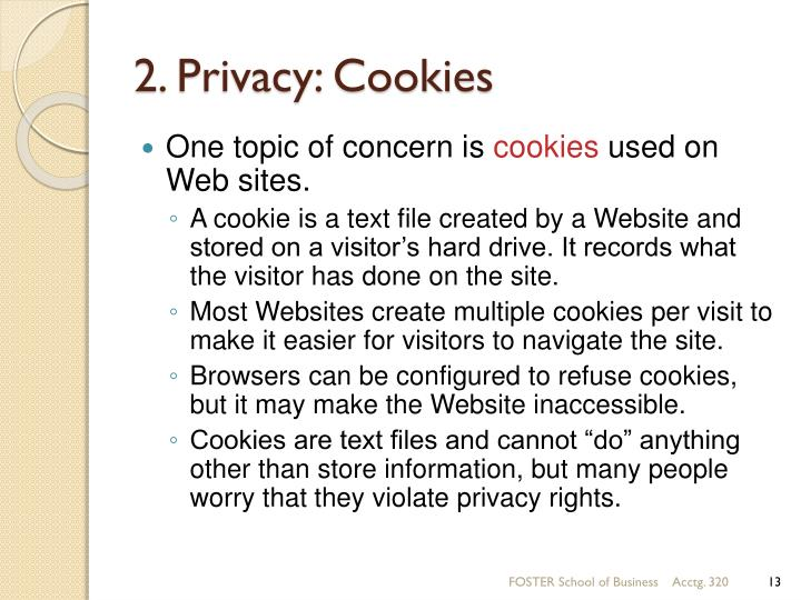 2. Privacy: Cookies