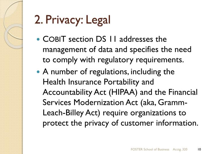 2. Privacy: Legal