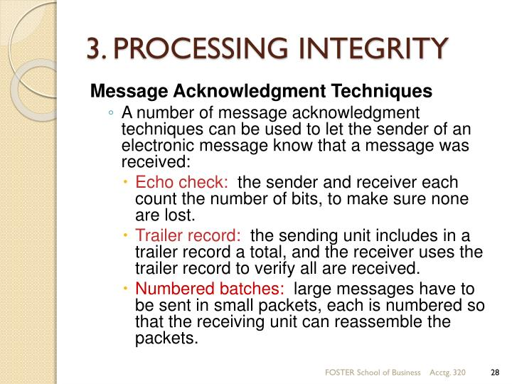 3. PROCESSING INTEGRITY