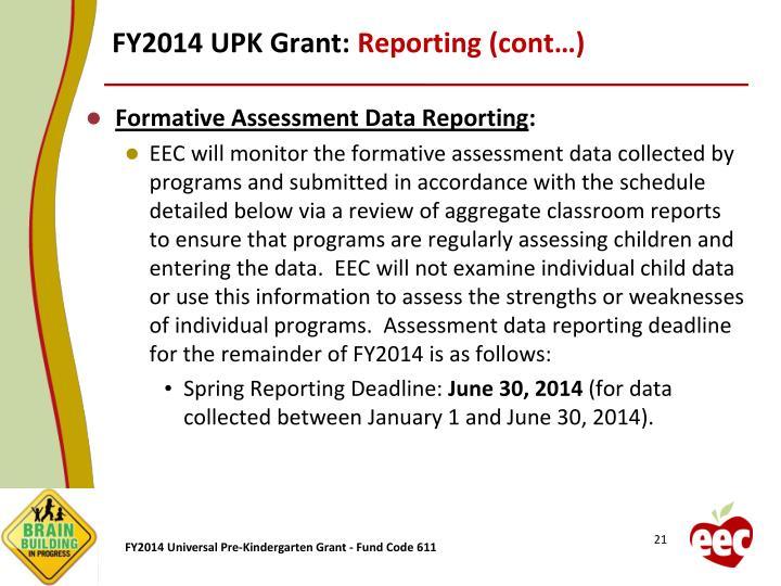 FY2014 UPK Grant: