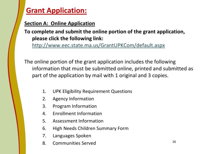 Grant Application: