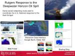 rutgers response to the deepwater horizon oil spill