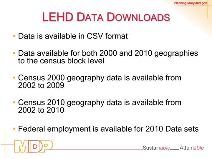 LEHD Data Downloads