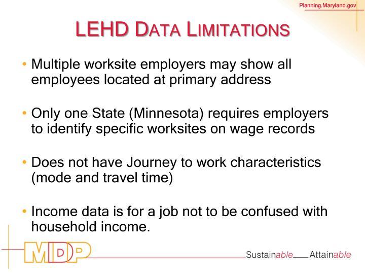 LEHD Data Limitations