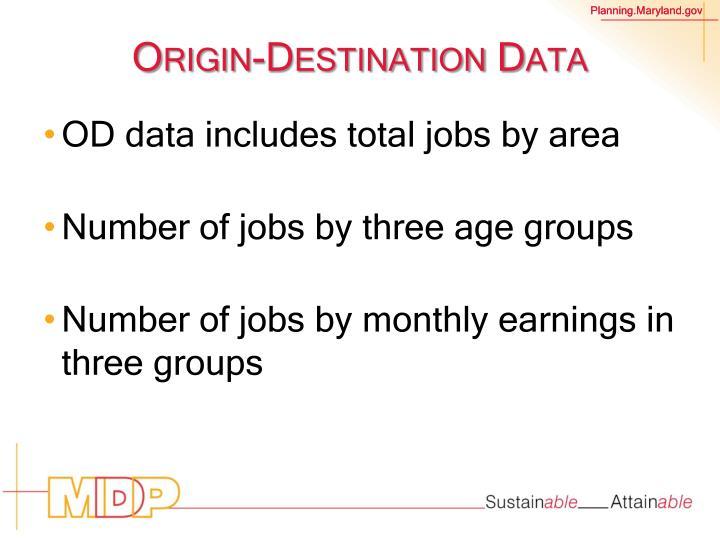 Origin-Destination Data