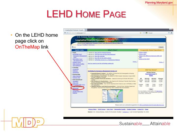 LEHD Home Page