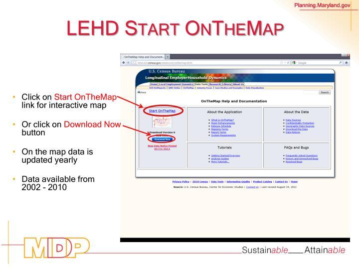 LEHD Start