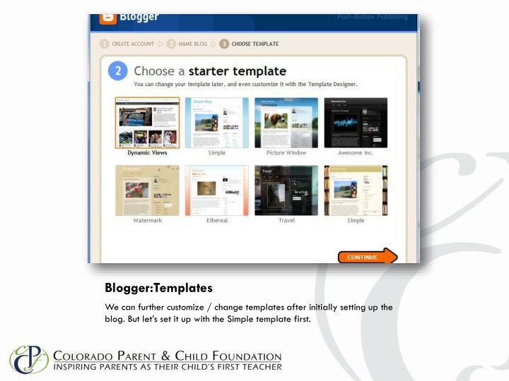 Blogger:Templates