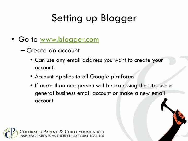 Setting up Blogger