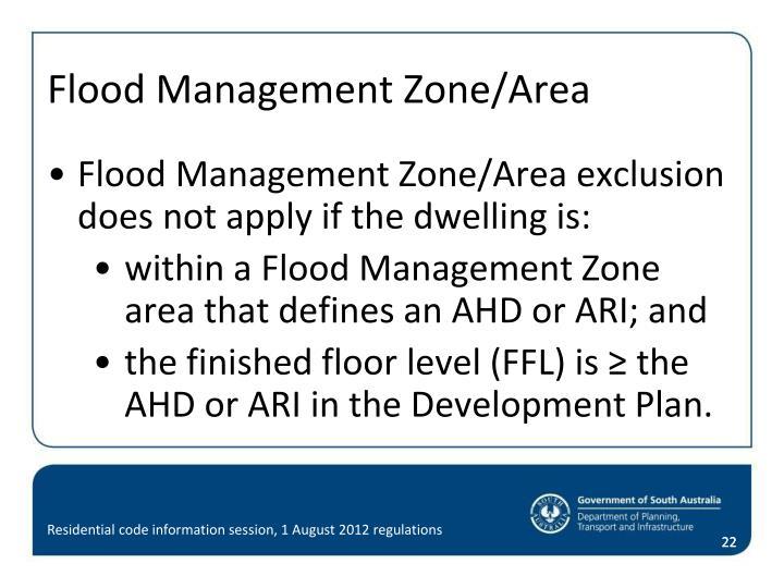 Flood Management Zone/Area