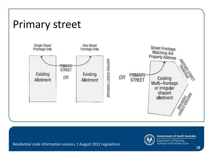 Primary street