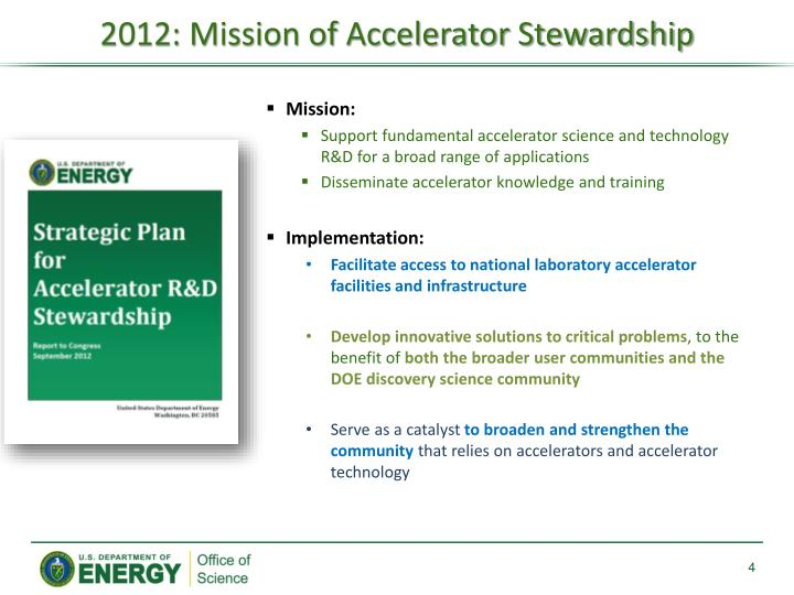 2012: Mission of Accelerator Stewardship
