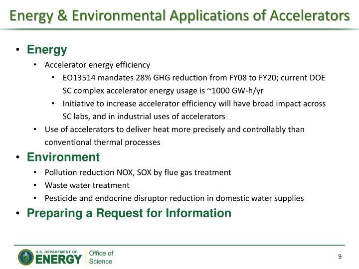 Energy & Environmental Applications of