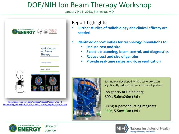 DOE/NIH Ion Beam Therapy Workshop