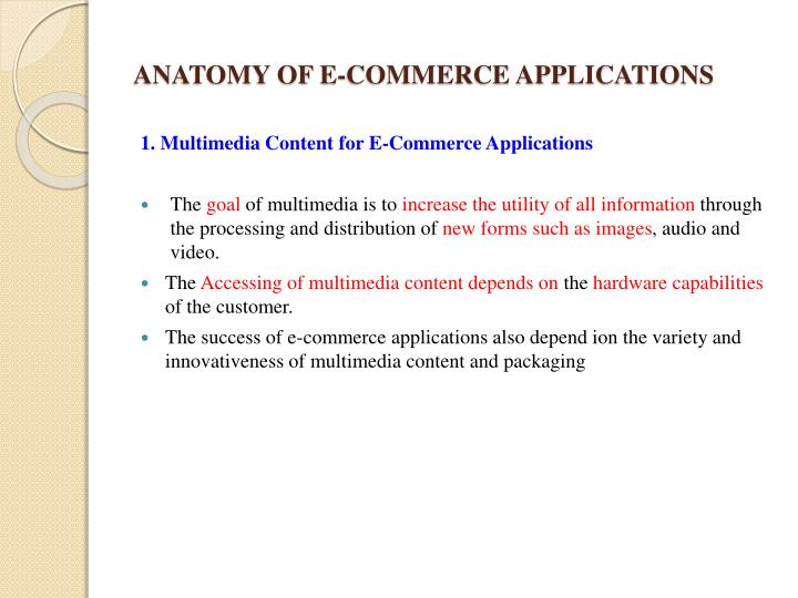 ANATOMY OF E-COMMERCE APPLICATIONS
