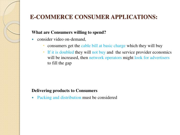 E-COMMERCE CONSUMER APPLICATIONS: