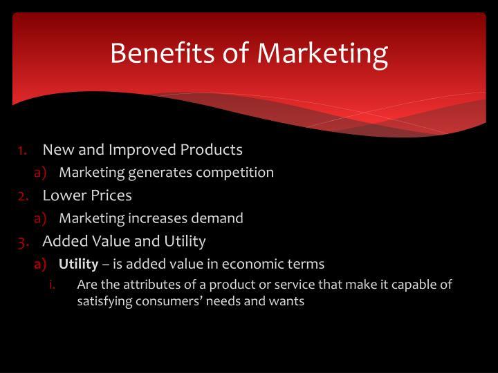Benefits of Marketing