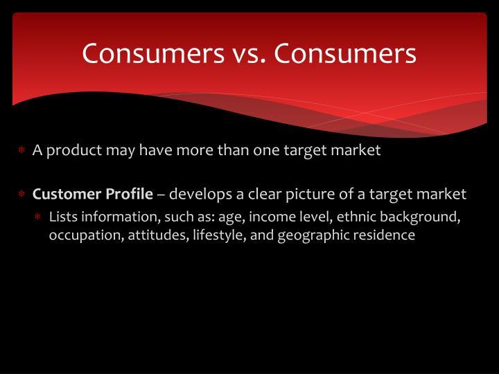 Consumers vs. Consumers
