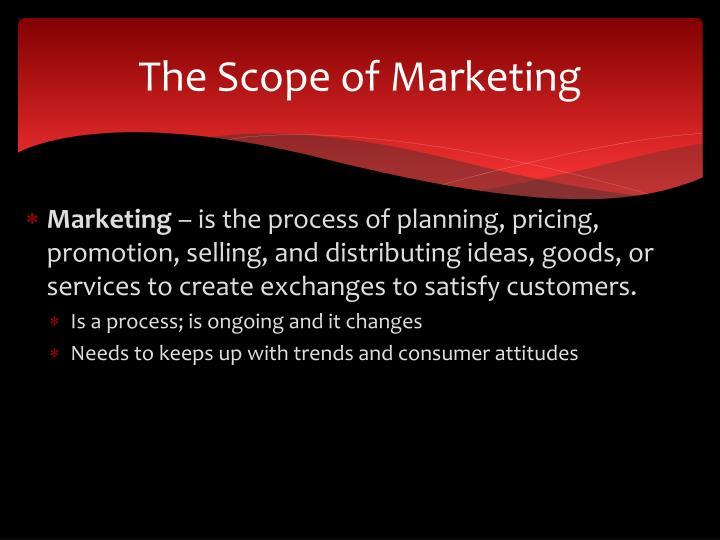 The Scope of Marketing