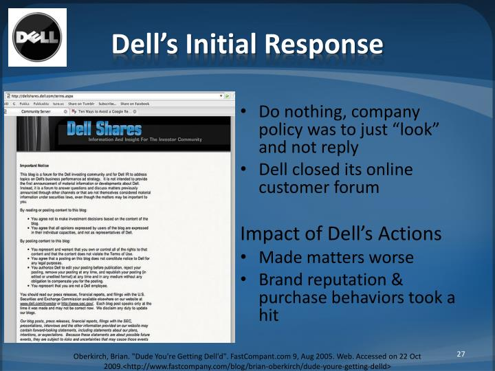 Dell's Initial Response