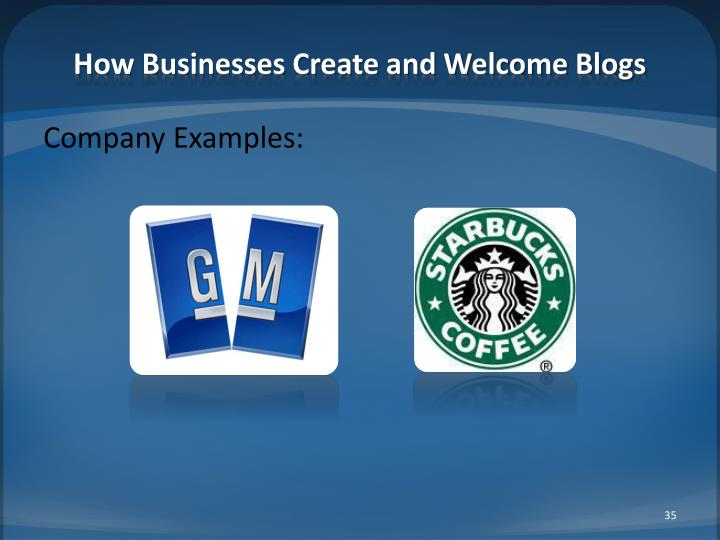 How Businesses Create and Welcome Blogs