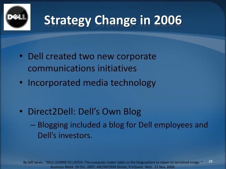 Strategy Change in 2006