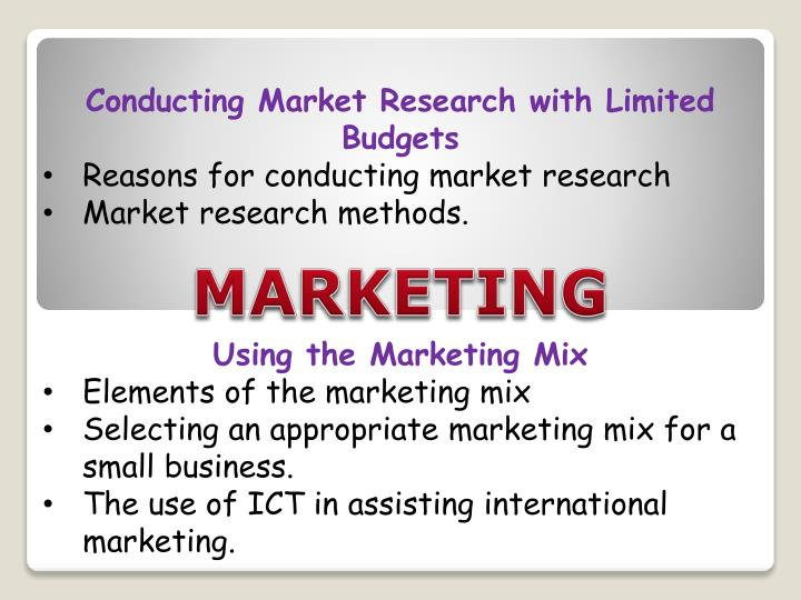 Conducting Market Research with Limited