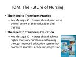 iom the future of nursing
