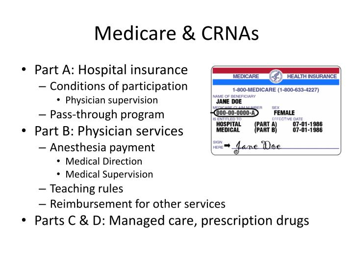 Medicare & CRNAs