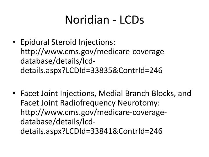 Noridian - LCDs