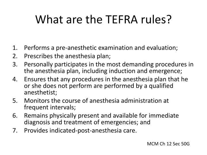 What are the TEFRA rules?
